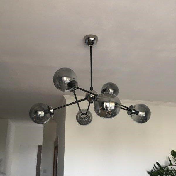 Duża lampa sufitowa SAGITO chrom VI